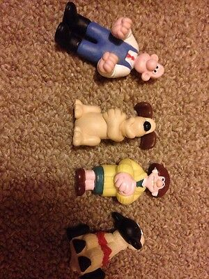 Wallace And Gromit Close Shave Cereal Box Toy Figures From 1990s