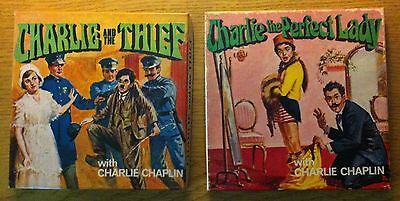 2 - 8mm  Films CHARLIE CHAPLIN --CHARLIE AND THE THIEF- CHARLIE PERFECT LADYAD