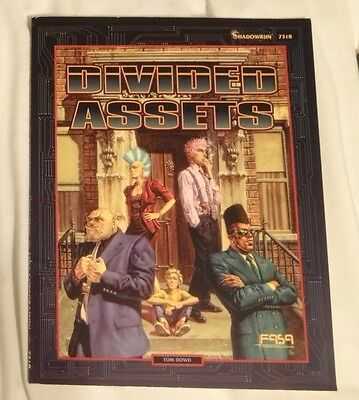 Shadowrun RPG - Divided Assets Supplement - FASA - Science Fantasy RPG