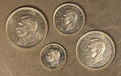 1937 Great Britain Maundy Set of 4 Lovely Proof Coins   ** Free U.S. Shipping **