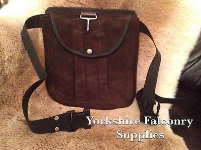 Falconry Brown leather belt bag