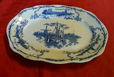 DELPH 19TH CENTURY MEAT DISH PLATTER PLATE MARKED DELPH RD No283046 RARE 14X10""