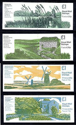 GB Stamps £1 Folded Booklets 1989 Mills Series Set SG FH 19 - 22 Mint x4