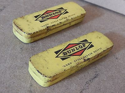 2 x Vintage Dunlop  long Cycle Puncture Repair tins