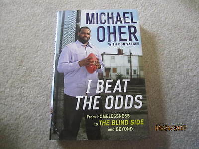 """Signed MICHAEL OHER """"THE BLIND SIDE"""" I Beat The Odds AUTO Hardback NFL COA Raven"""