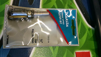 "Makita 733012-1A Router Bit Straight Top B.Bearing 1/2"" Carbide 1/4"" Shank"