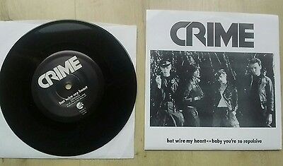 """Crime - Hotwire My Heart (90's Reissue) 7"""" Single"""