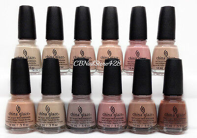 China Glaze Nail Lacquer - SHADES OF NUDE Spring'17 Collection - Pick Any Color
