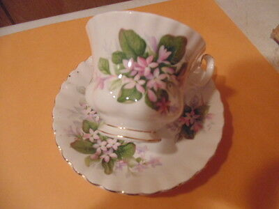 vintage royal albert cup and saucer, MAYFLOWER DESIGN.