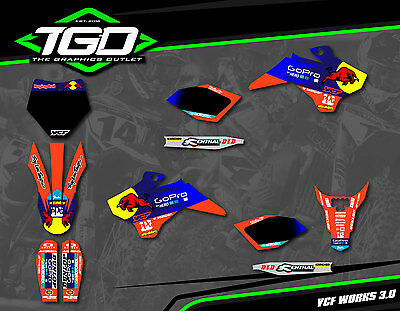 Ycf 2014-16 Pitbike Full Motocross Mx Graphics Decals Stickers Kit