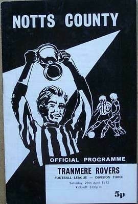 Notts County v Tranmere Rovers 1971/72