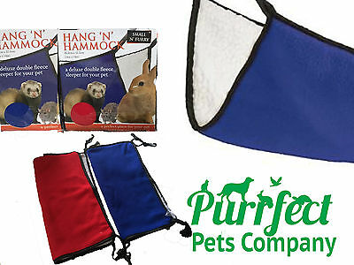 Small 'n' Furry - Hang 'n' Hammock - Cosy Fleece Hammock, Rats, Ferrets, Rabbits