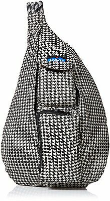 Kavu Rope Messenger Shoulder Bag Black Houndstooth New