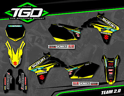 Suzuki Rmz450 2007 Full Motocross Mx Graphics Decals Stickers Kit