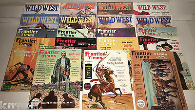 Frontier Times Magazine Vintage  and Wildwest Magazines  Lot of 19       ****411