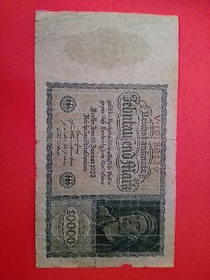 1922 OLD GERMANY BANKNOTE 10 000 Marks