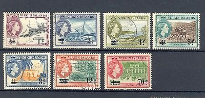 British Virgin Islands 1962 US surcharge selection, good/fine used