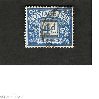 Great Britain SCOTT #J50 Postage Due 4d  Θ used stamp