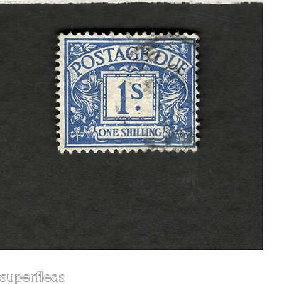 Great Britain SCOTT #J8 Postage Due One Shilling Θ used stamp