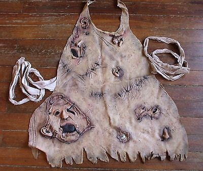 Texas Chainsaw Massacre Apron of Souls Latex Human Skins Leatherface Costume