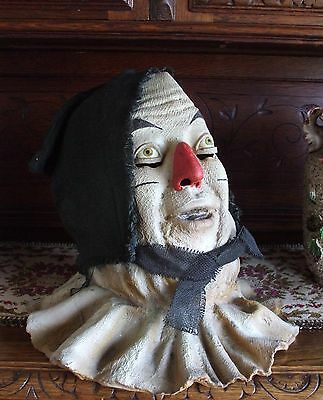 Scarecrow Wizard of Oz Mask Full Head Latex Costume 1995 Turner Entertainment Co