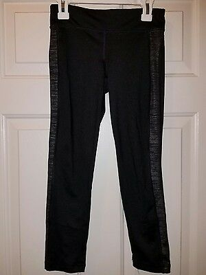 Old Navy Girls Black/striped Active Athletic Stretch Leggings Size 8