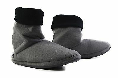 Mens Grosby Hoodies BOOTS Charcoal Grey Black Slippers Slipper Size S M L XL