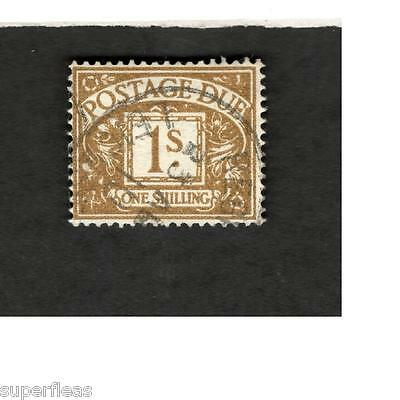 Great Britain SCOTT #J52 Postage Due One Shilling  Θ used stamp