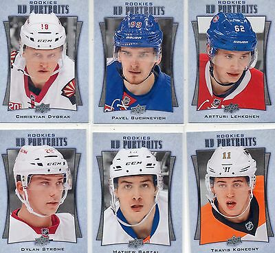 2016-17 Upper Deck Series 2 UD Portraits Lot of 33 different. Barzal, Aho,Chabot