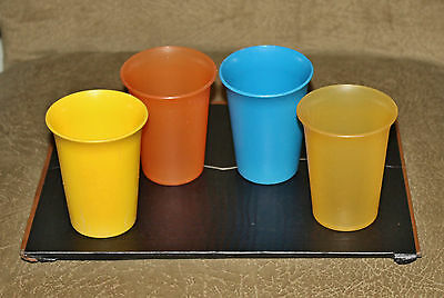 Set of 4 Tupperware Bell Tumblers  #109