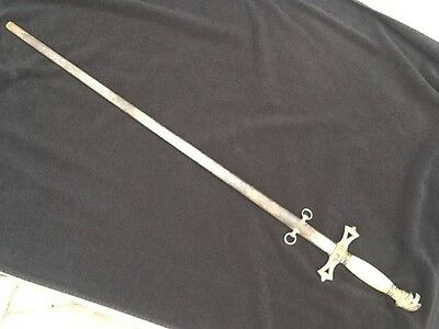 Antique fraternal lodge US post Civil War Militia Parade Sword with Scabbard