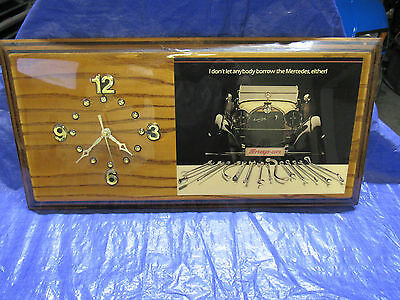 Vintage Collectible Snap-On Tools Mercedes Benz Wall Clock  Working