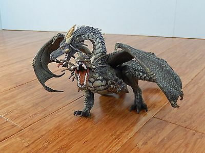2005 Papo 2 Headed Dragon Action Figure Playset