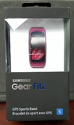 Brand New Sealed Samsung Gear Fit2 GPS with Heart Rate Monitor Small Pink