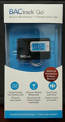 Brand New BAC Track Go Keychain Breathalyzer with Xtra 20 mouthpieces