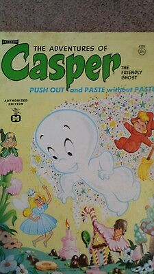 Vintage Adventures of Casper push out and paste Coloring book