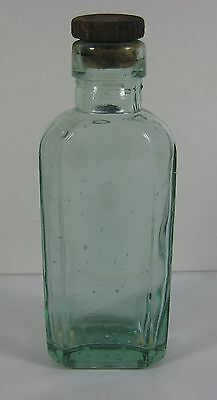 Vintage Green Glass Medicine Bottle