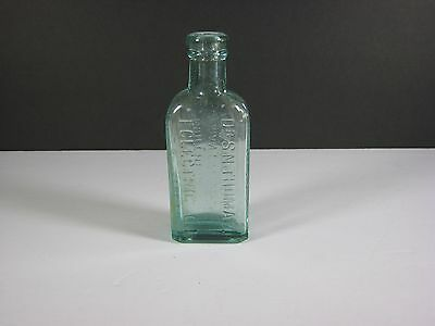 Vintage Green Glass Dr. S N Thomas Eclectic Oil Northrop Lyman Bottle