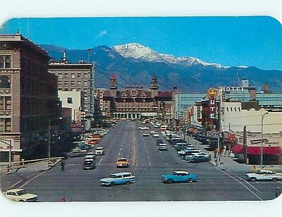 Pre-1980 OLD CARS & SHOPS & HOTEL Colorado Springs CO Q7585