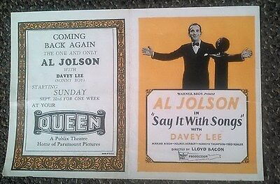 Al Jolson, Herald, Say it with Songs
