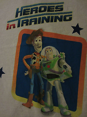 Toy Story Twin Flat Sheet Heros in Training Buzz Woody FABRIC Material EUC