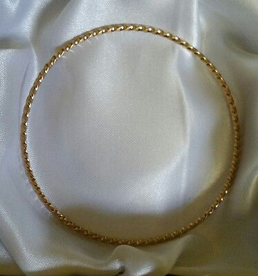 DISCOUNT Genuine 9ct yellow gold twisted  bangle 5.6grams