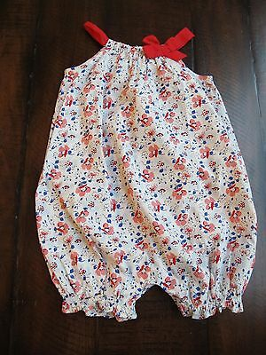 babyGap Floral Romper One Piece Bubble Outfit 6-12M NWT HTF
