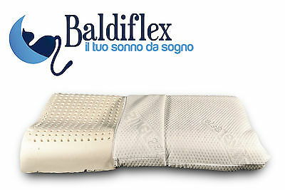 Cuscino Guanciale Ortocervicale in Lattice 100% Made in Italy by Baldiflex -ASTA