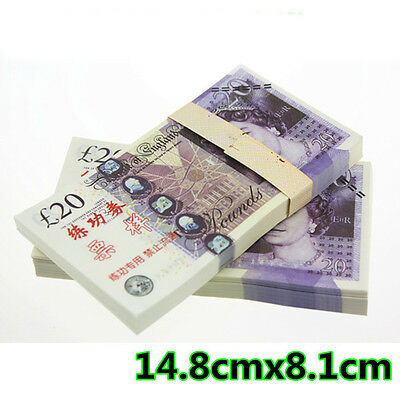 20 Gbp 100Pcs/lot Training Banknotes/ Paper Money/fooling Gift