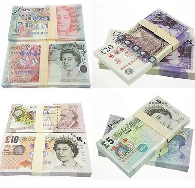 10 Gbp 100Pcs/lot Training Banknotes/ Paper Money/fooling Gift