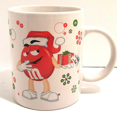 M&M 2010 Cup Mug Candy Christmas Holiday Gift Wrapping Paper Snowflakes White