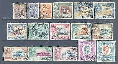 British Commonwealth Cyprus 1960 Definitives Sg188/202 Set Very Fine Used