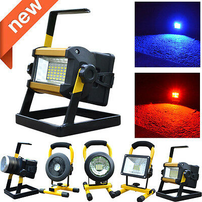 30W 24 LED Portable Rechargeable Flood Light Spot Work Camping Fishing Lamp
