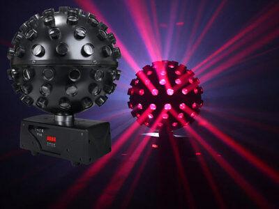 LED Rotating Ball 5 x 15W HEX (6-in-1) RGBWAUV LED Mirror Ball effect DMX Party